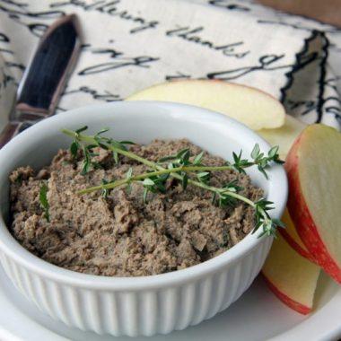 Паштет из говяжьей печени с яблоками